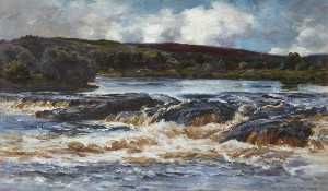 Colin Hunter - Highland Waterfall