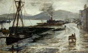 Colin Hunter - Wet Day on the Clyde