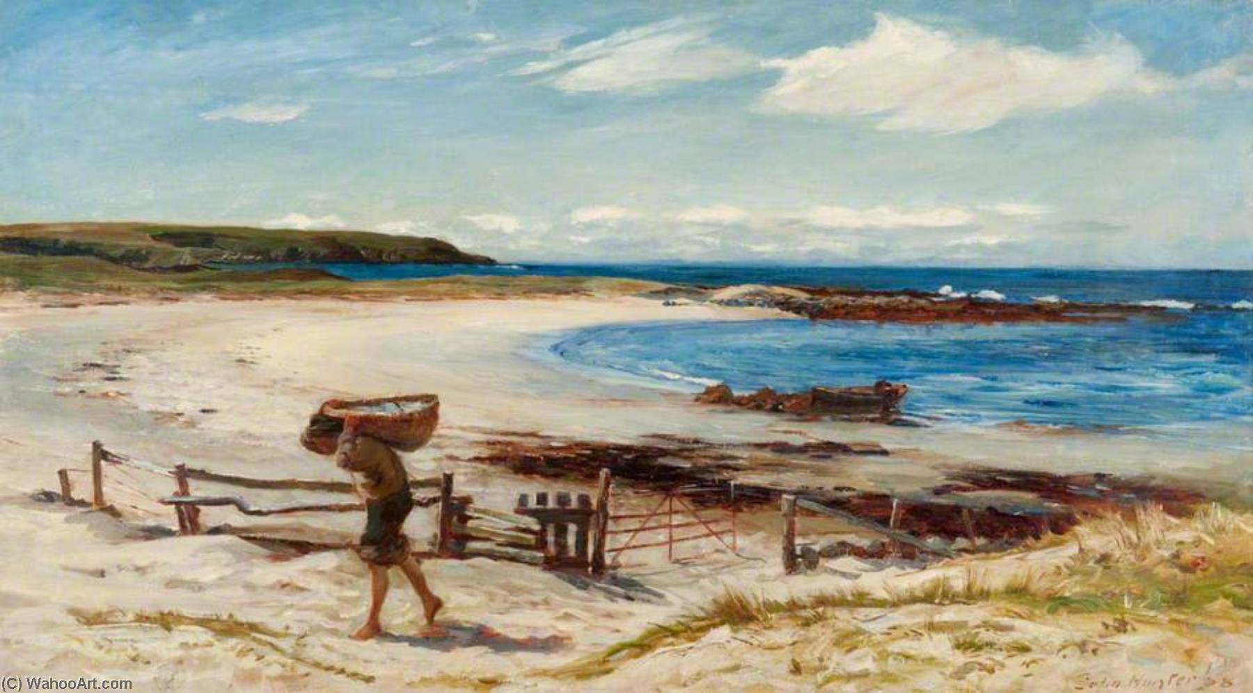 On the East Coast of Scotland, 1888 by Colin Hunter | Museum Art Reproductions Colin Hunter | ArtsDot.com