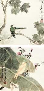 Deng Fen - Perching by the Blossoms