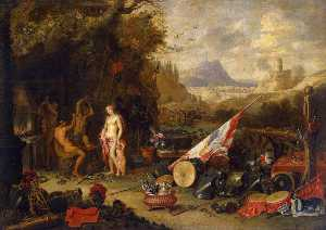 Jan Van Kessel The Elder - Venus at the Forge of Vulcan
