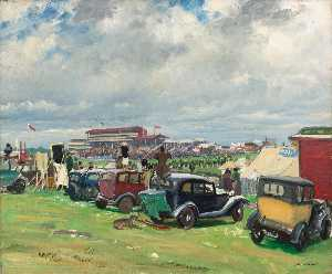 Dame Laura Knight - A Dull Day at Epsom