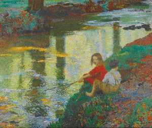 Dame Laura Knight - The Young Anglers