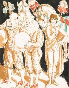 Dame Laura Knight - circus figures