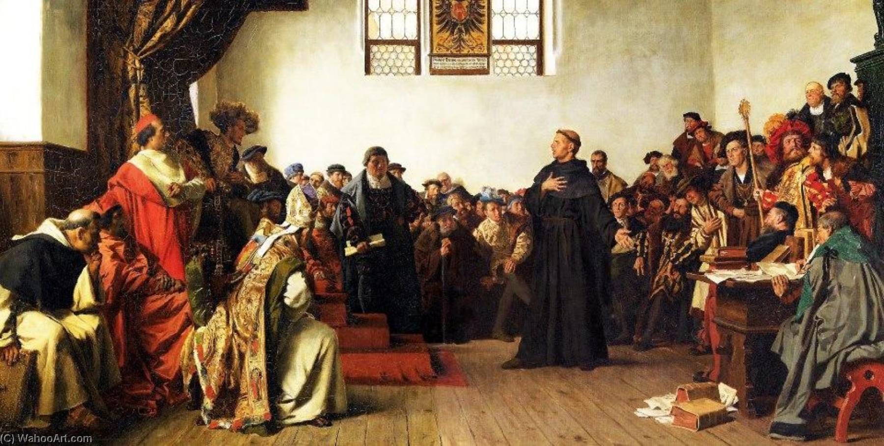 Order Reproductions | Luther at the Diet of Worms by Anton Alexander Von Werner (1843-1915, Germany) | ArtsDot.com