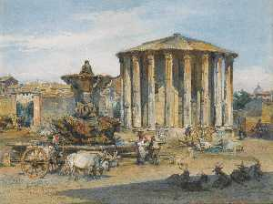 Ludwig Johann Passini - The temple of vesta, rome