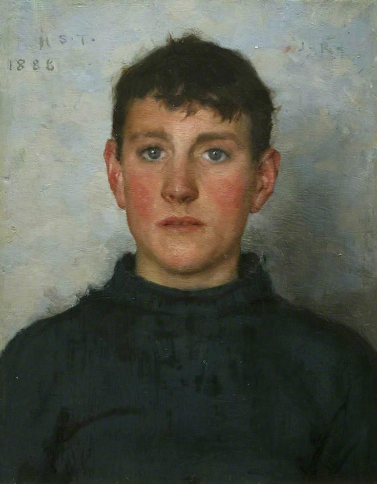 Jack Rolling, 1887 by Henry Scott Tuke (1858-1929, United Kingdom) | Art Reproductions Henry Scott Tuke | ArtsDot.com