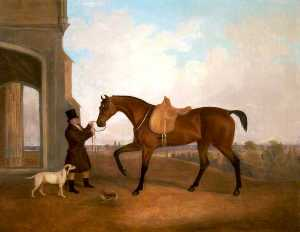 John Boultbee - A Horse and Groom outside..
