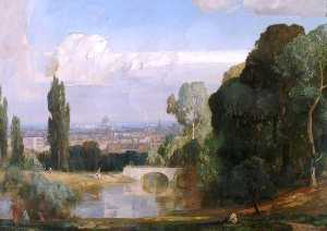 George Vicat Cole - London from Waterloo Park..