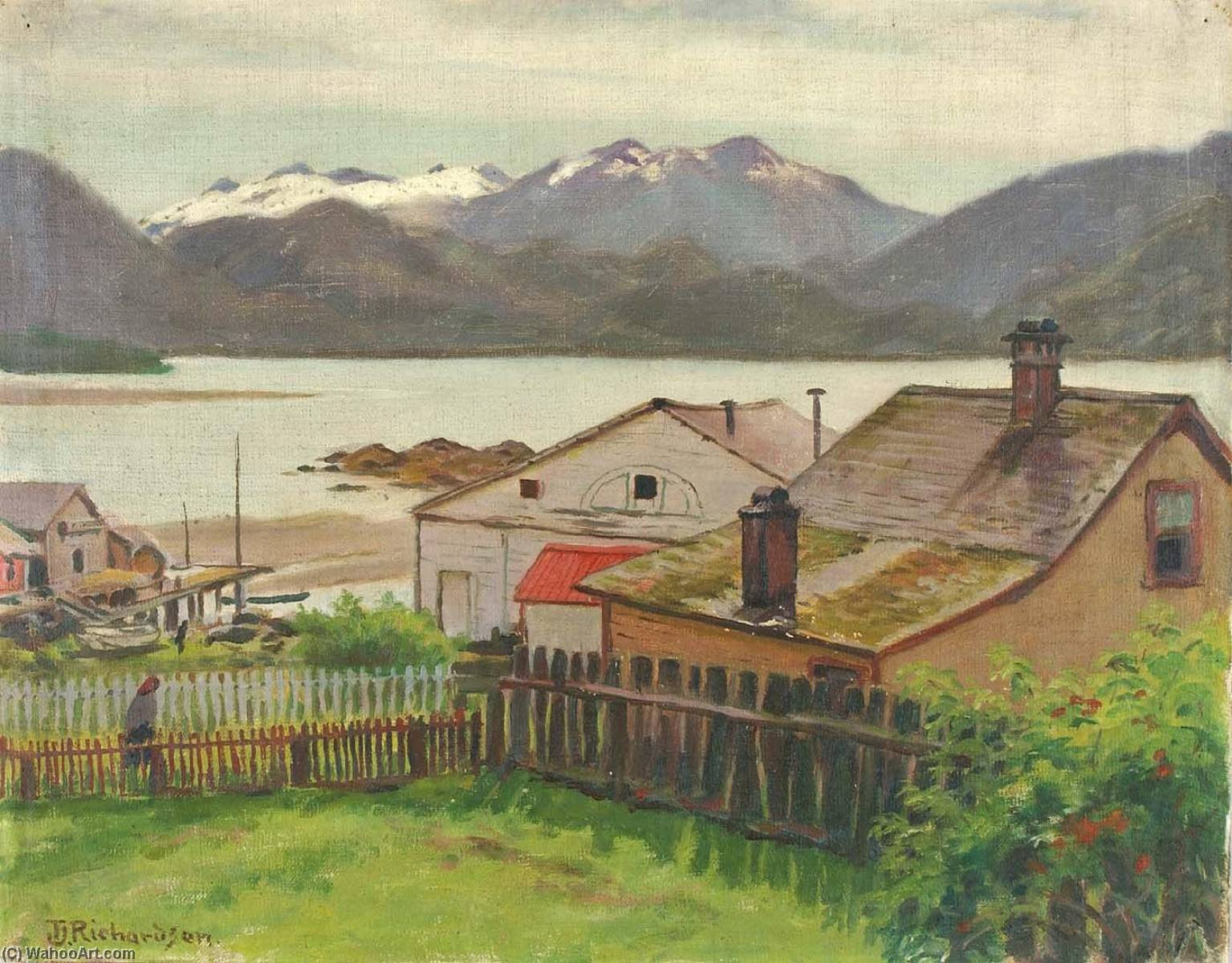 In the Old Quarter, Sitka, 1900, 1900 by Theodore J. Richardson | Painting Copy | ArtsDot.com