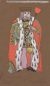 William Penhallow Henderson - King of Hearts (costume design for Alice in Wonderland, 1915