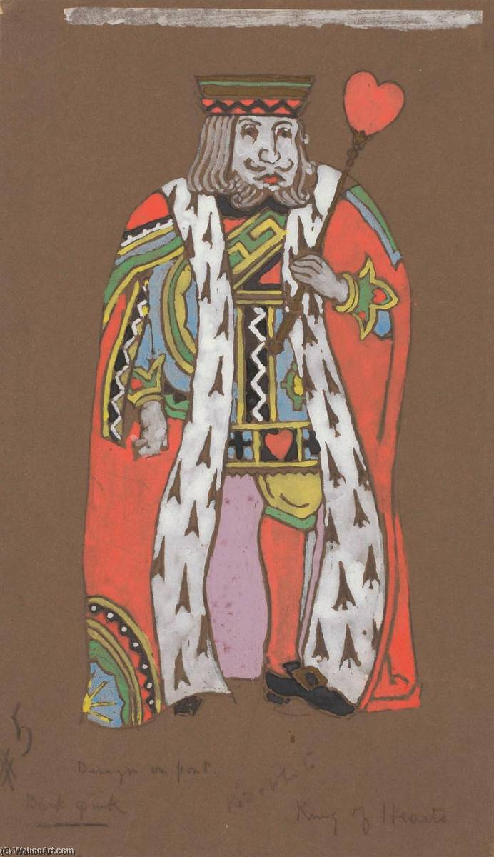 King of Hearts (costume design for Alice in Wonderland, 1915 by William Penhallow Henderson | Museum Quality Copies William Penhallow Henderson | ArtsDot.com