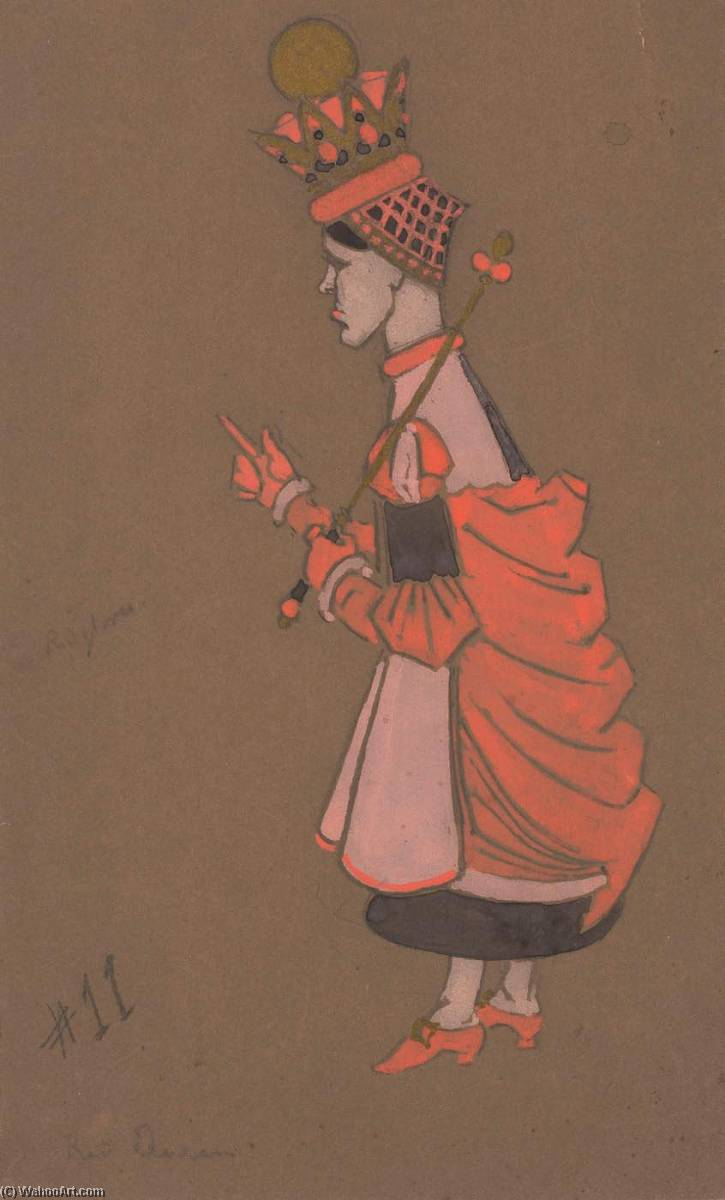 Red Queen (costume design for Alice in Wonderland) 1915) by William Penhallow Henderson | Museum Quality Reproductions | ArtsDot.com