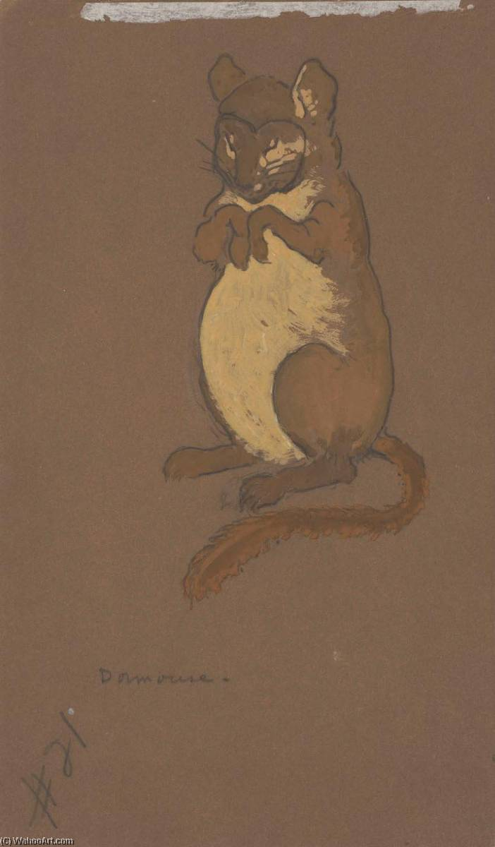 Dormouse (costume design for Alice in Wonderland, 1915) by William Penhallow Henderson | Painting Copy | ArtsDot.com