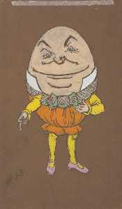 William Penhallow Henderson - Humpty Dumpty (costume design for Alice in Wonderland, 1915)
