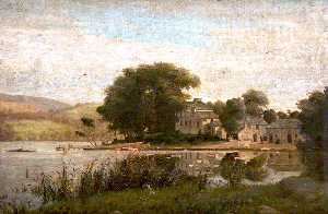 James Hey Davies - Landscape with a Lake and..