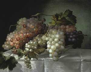 Joseph Nigg - Still Life with Grapes