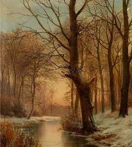 Anders Andersen Lundby - Late Afternoon in a Fores..