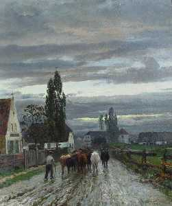 Anders Andersen Lundby - Farmer Driving Cattle to ..
