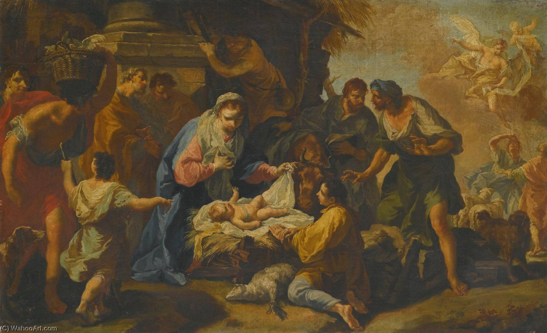 Adoration of the Shepherds by Anton Kern | Museum Art Reproductions | ArtsDot.com