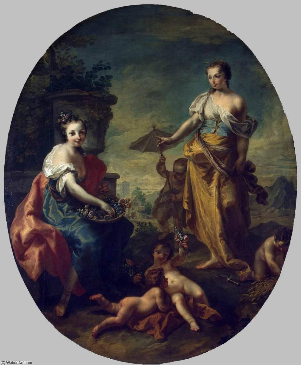 Summer and Spring, 1747 by Anton Kern | Museum Quality Copies Anton Kern | ArtsDot.com