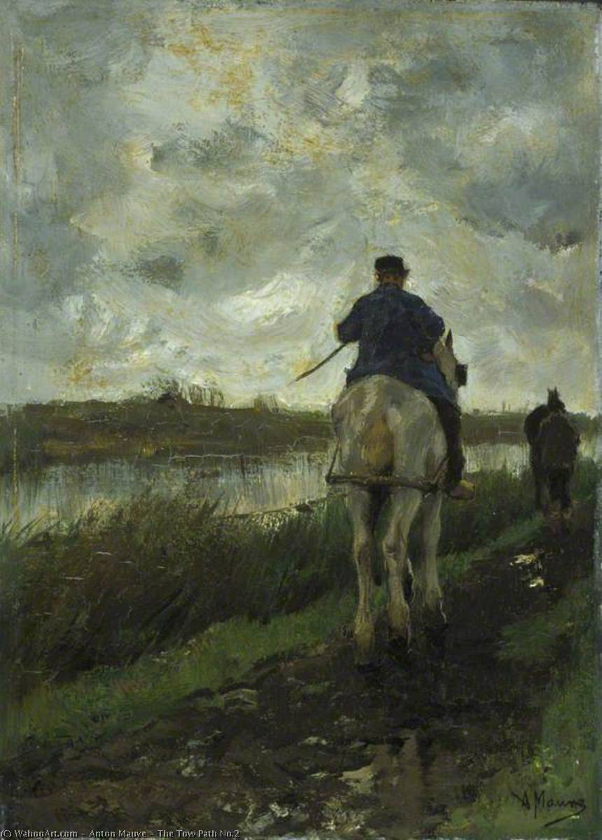 Order Museum Quality Copies | The Tow Path No.2, 1878 by Anton Mauve (1838-1888, Netherlands) | ArtsDot.com