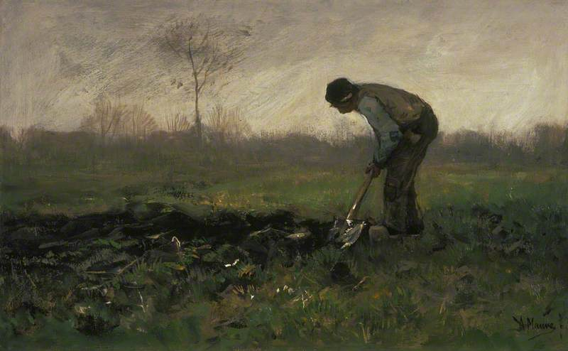 Field Labour by Anton Mauve (1838-1888, Netherlands) | Art Reproduction | ArtsDot.com