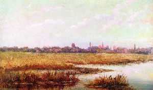 Felix De Crano - Marshes and St. Augustine..