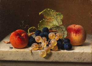 Emilie Preyer - Fruit still life with two..