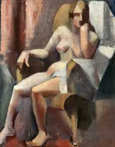 Mainie Jellett - Seated Female Nude