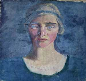 Mainie Jellett - Head of a Woman