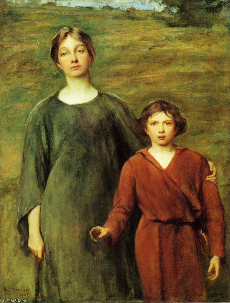 Hagar and Ishmael, 1892 by Henry Oliver Walker | Museum Quality Reproductions | ArtsDot.com