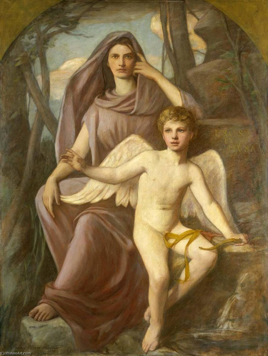 Eros et Musa, 1903 by Henry Oliver Walker | Painting Copy | ArtsDot.com