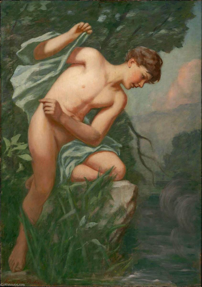 Narcissus, 1890 by Henry Oliver Walker | Painting Copy | ArtsDot.com