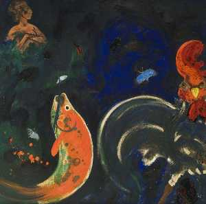 Robert Beauchamp - Untitled (Red Fish)