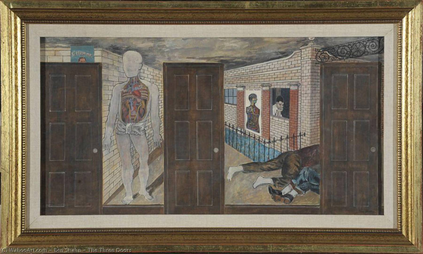 The Three Doors, 1933 by Benjamin Shahn (1898-1969, Lithuania) | Museum Quality Reproductions | ArtsDot.com