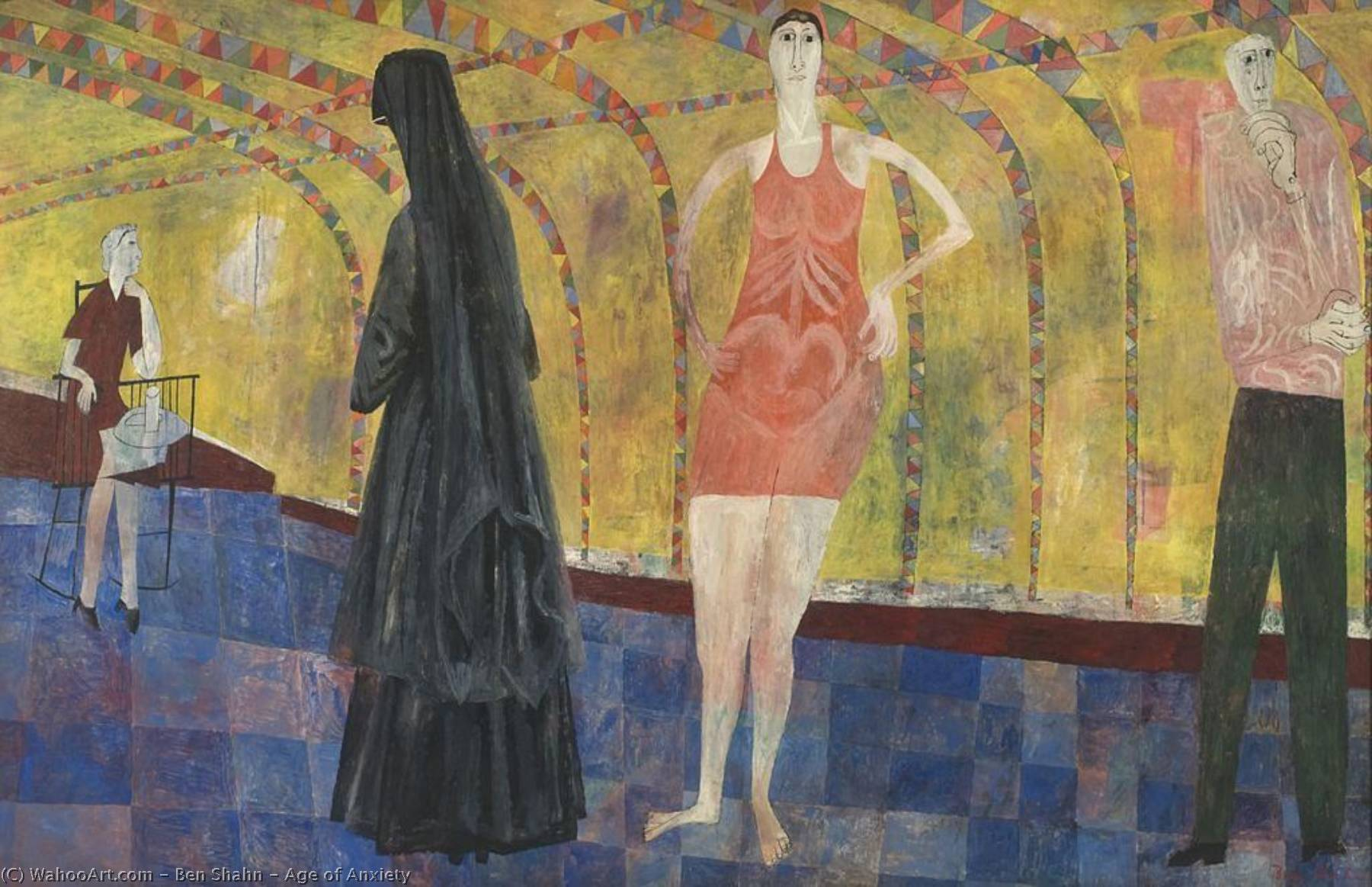 Age of Anxiety, 1953 by Benjamin Shahn (1898-1969, Lithuania) | Painting Copy | ArtsDot.com