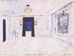 Benjamin Shahn - The Room. Set design for the play him