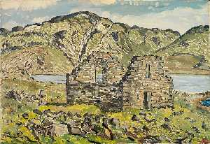 Emile Walters - Church at Hvalsejar Fjord