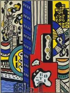 Fernand Leger - Study for Cinematic Mural, Study III
