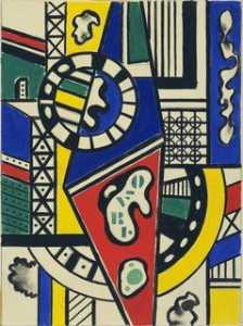 Fernand Leger - Study for Cinematic Mural, Study VII