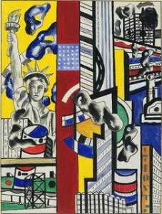 Fernand Leger - Study for Cinematic Mural, Study II