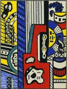 Fernand Leger - Study for Cinematic Mural, Study IV