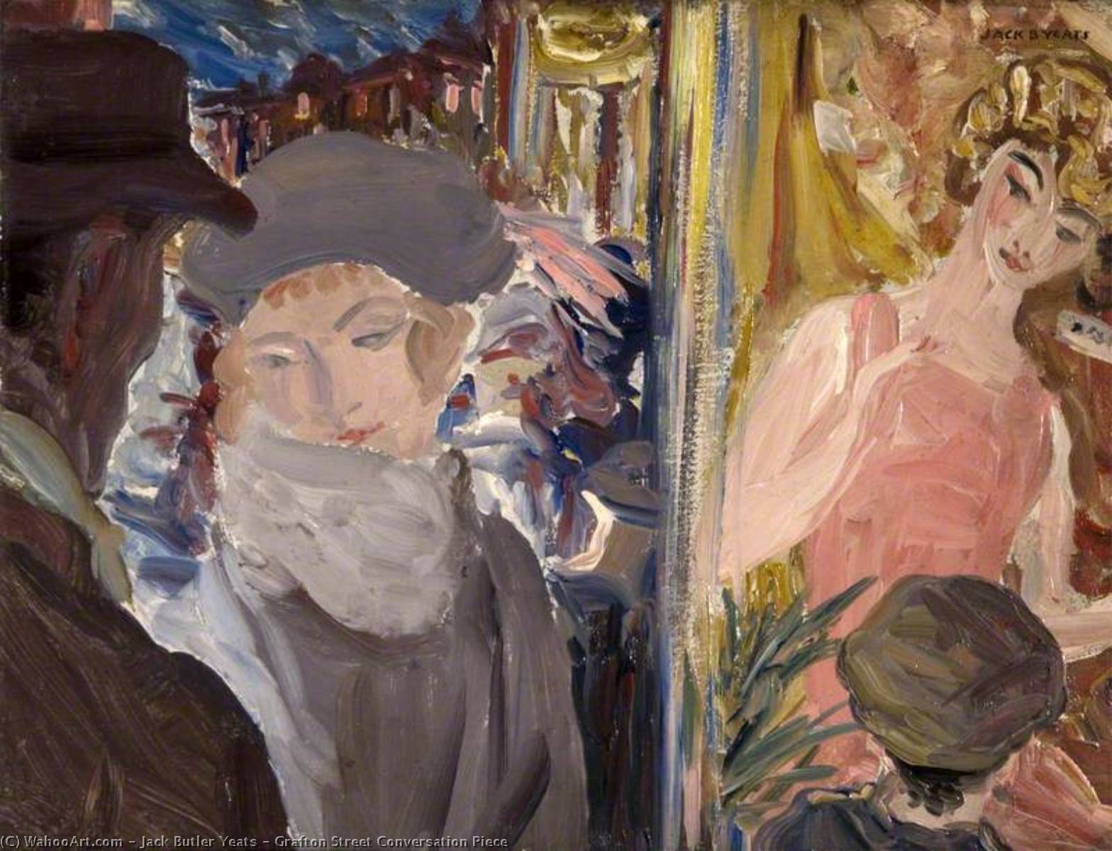 Grafton Street Conversation Piece, 1923 by Jack Butler Yeats (1871-1957, United Kingdom) | Art Reproduction | ArtsDot.com