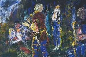 Jack Butler Yeats - The Death of Diarmuid, th..