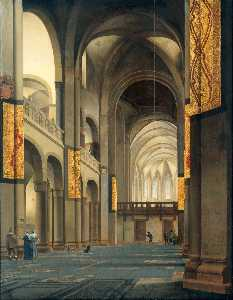 Peter Saenredam - The nave and choir of the..