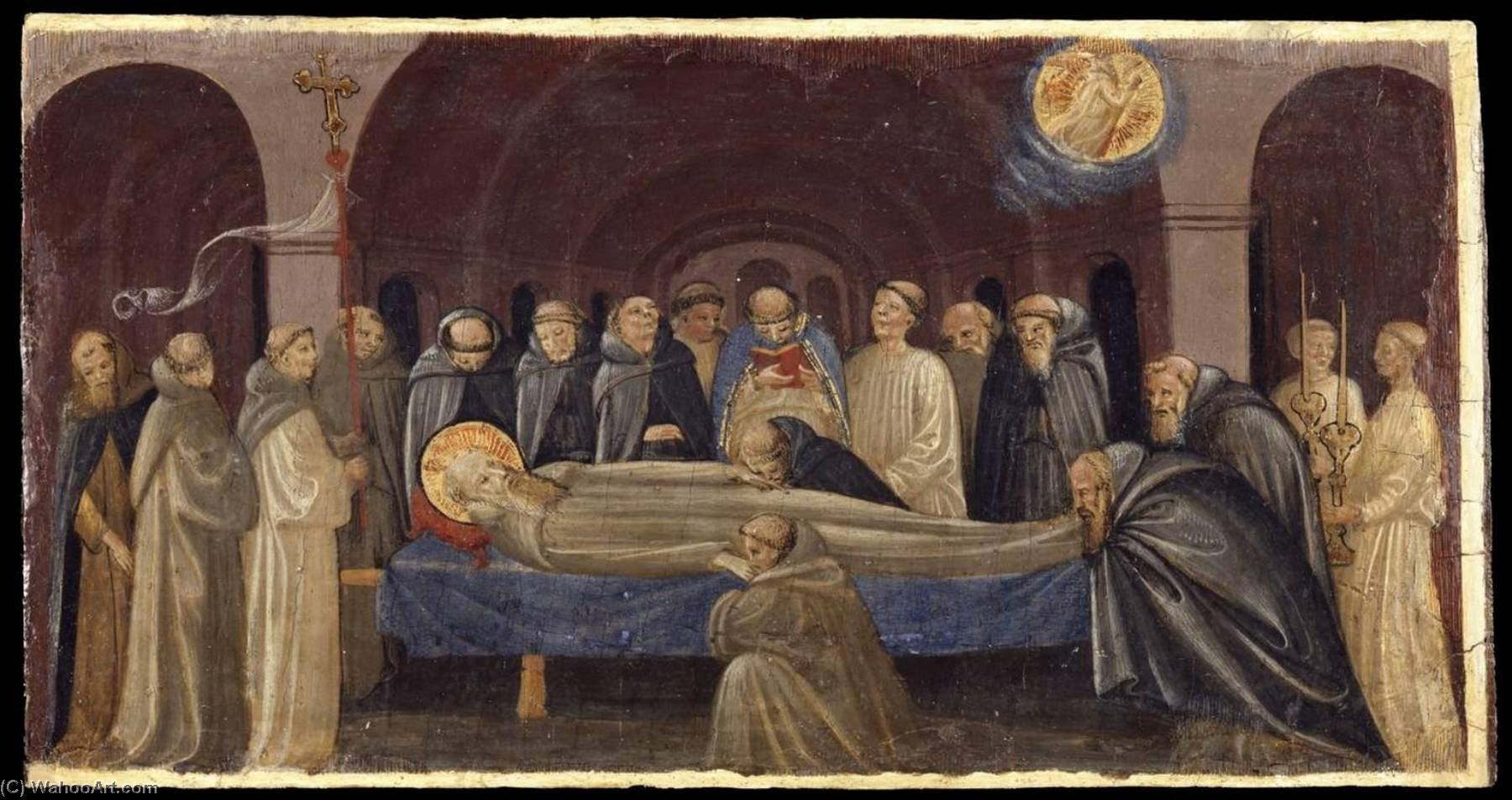 The Funeral of St Jerome, 1431 by Francesco D'antonio Di Bartolommeo | Oil Painting | ArtsDot.com