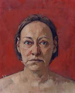 Mary Beth Mckenzie - Self Portrait (red backgr..
