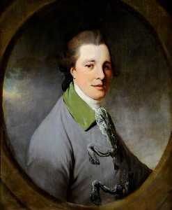 Mason Chamberlin The Elder - Portrait of an Unknown Young Gentleman in a Grey Coat with a Green Collar