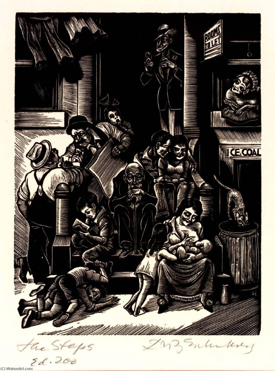 Order Reproductions | The Steps, 1934 by Fritz Eichenberg | ArtsDot.com